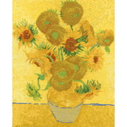 """Van Gogh Sunflowers Counted Cross Stitch Kit, 11.5"""" x 14.5"""", 14-Count"""