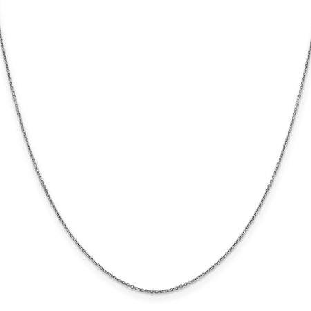 10K White Gold 0.90mm Diamond Cut Cable Chain 16 Inch - image 3 of 3