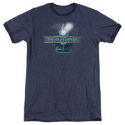 Polar Express Train Logo Mens Adult Heather Ringer Shirt