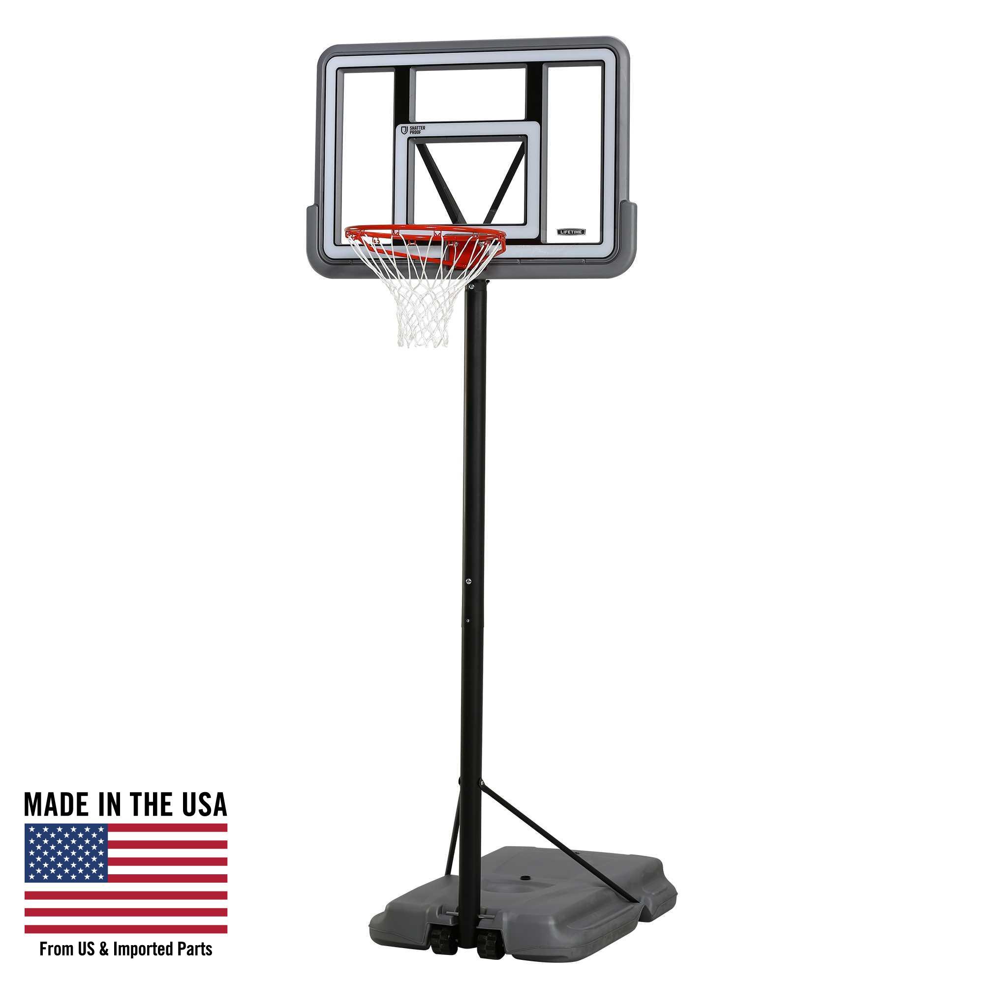 Lifetime Adjustable Portable Basketball Hoop (44-Inch), 90690