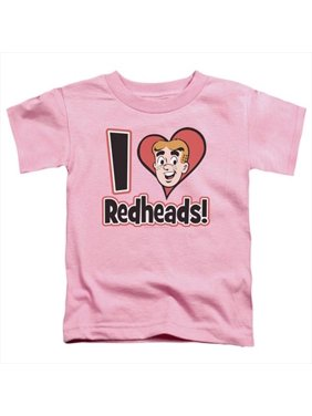 Archie Comics-I Love Redheads - Short Sleeve Toddler Tee, Pink - Medium 3T