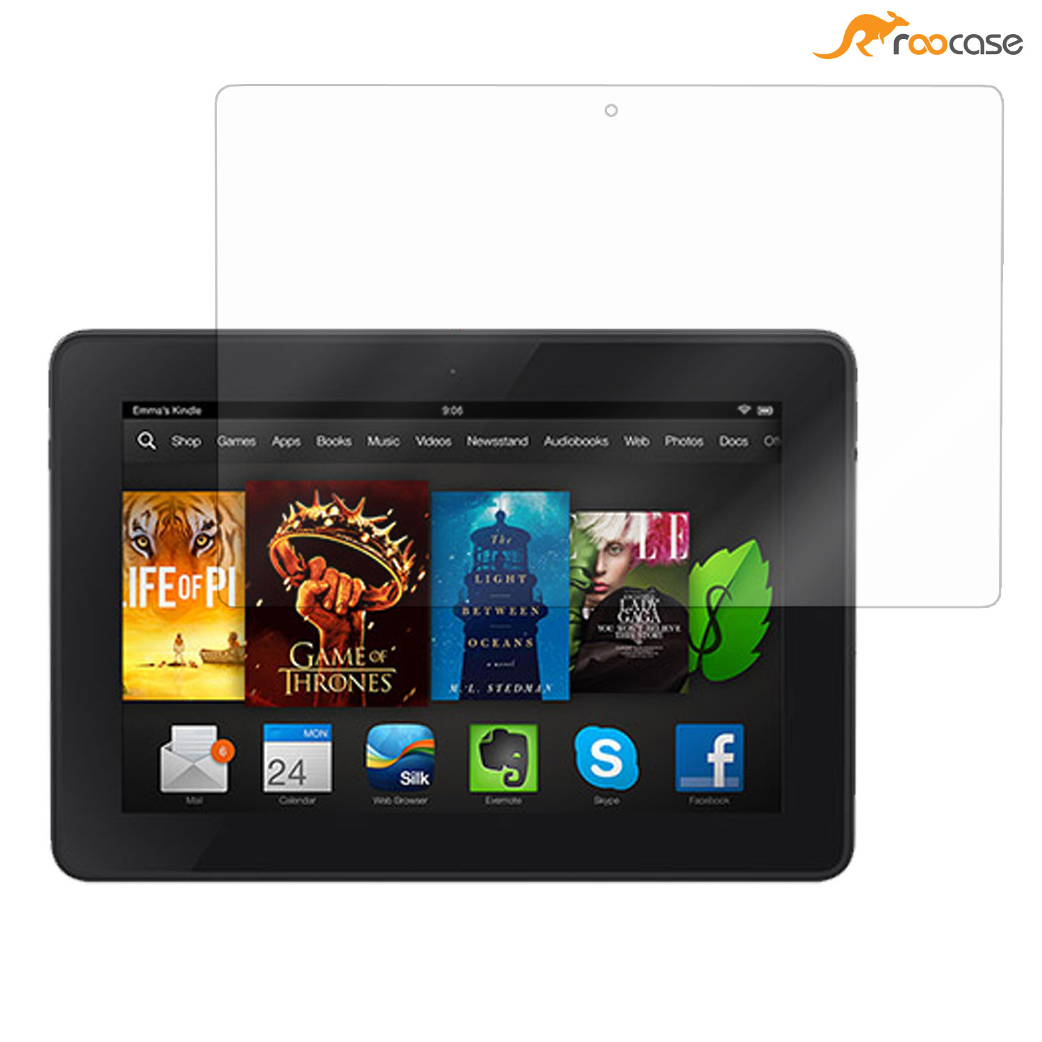 roocase Ultra Premium HD Screen Protector for Kindle Fire HD 7 2014