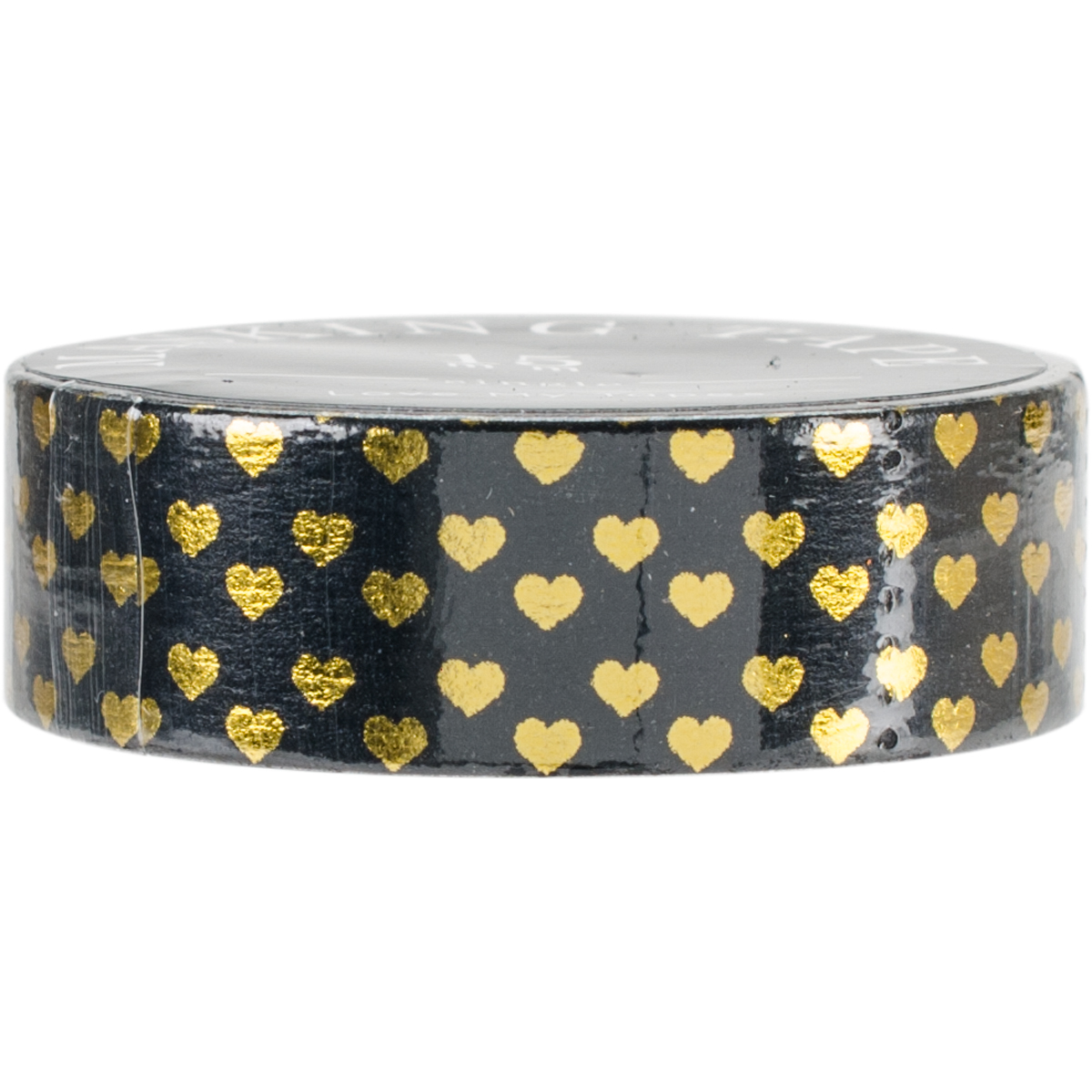 Love My Tapes Foil Washi Tape 15mmx10m-Black Gold Hearts