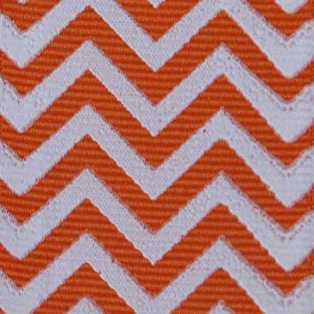 2 Yds Chevron Print Grosgrain Ribbon, 1.5 Inch Orange / White + One Yd Custom - Custom Ribbon