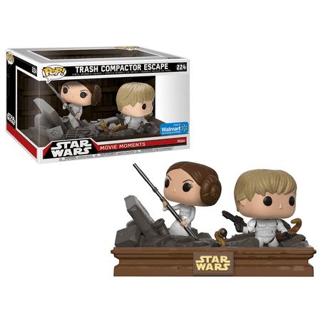 Funko POP! Star Wars Movie Moments: Luke Skywalker and Princess Leia Trash Compactor, Vinyl Figure