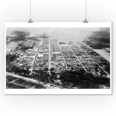Anchorage, Alaska - Aerial View of the City (9x12 Art Print, Wall Decor Travel Poster)](Party City Anchorage)