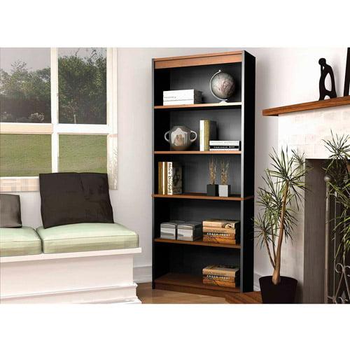 Bestar Innova 5-Shelf Bookcase, Brown