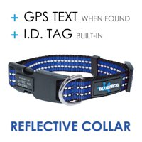 Blue Frog Track N Guard Protective GPS Tracking Dog Collar, Blue, Large