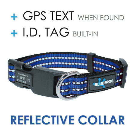 Track N Guard 1X Protective Dog Collar Blue