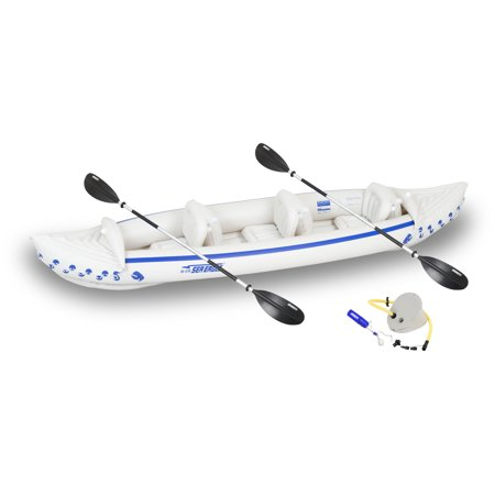 Sea Eagle Inflatable SE370 3 Person Inflatable Kayak Start Up Package