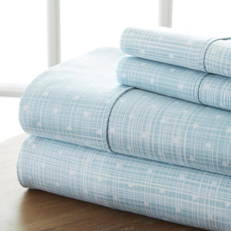 Noble Linens Ultra Soft 4 Piece Polka Dot Bed Sheet Set