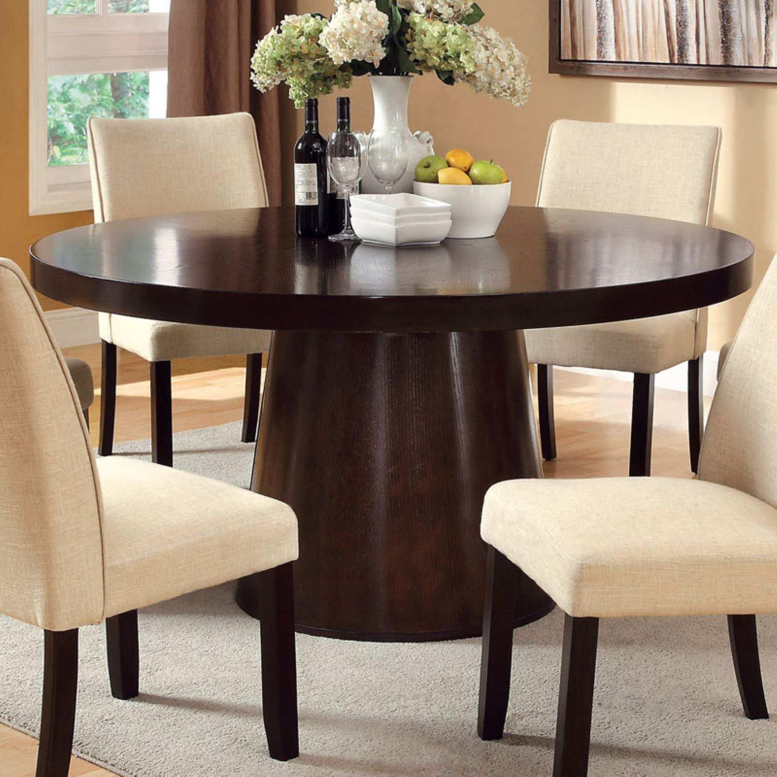 Furniture of America Vessice Round Dining Table by Enitial Lab