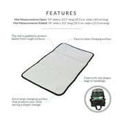 Obersee | Baby Portable Changing Pad | Baby Changing Mat | Padded Changing Station | Black
