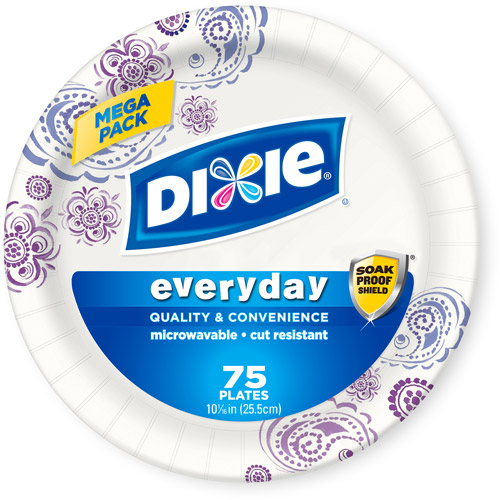 "Dixie Everyday Paper Plates, 10.0625"", 75 count"