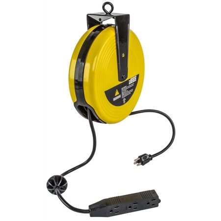 (JEGS Performance Products 81903 25ft Extension Cord with Retractable Reel)