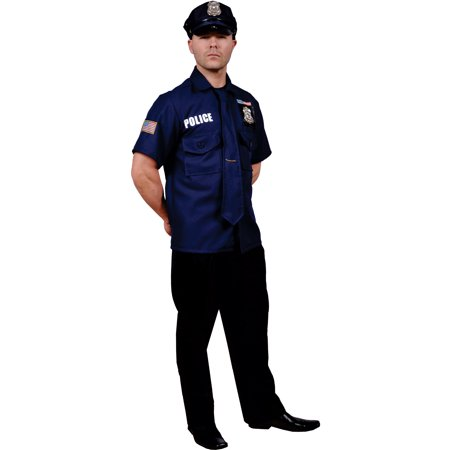 Dress Up America Police Officer, Multi-Colored, Adult Standard (Dress Up Theme Ideas For Adults)