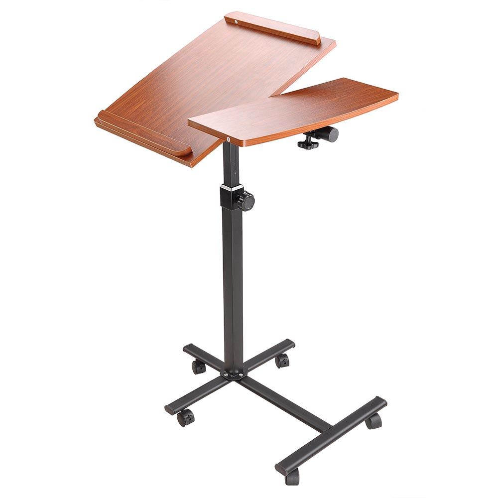 Yescom Rolling Laptop Cart Table Sturdy Stand Mobile