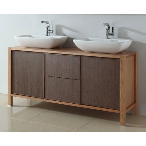 InFurniture 59'' Double Bathroom Vanity Set