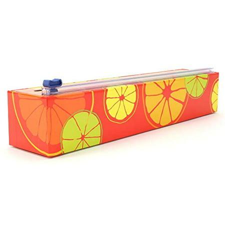 Chicwrap Citrus Refillable Plastic Wrap Dispenser/Slide Cutter with 250 feet of Plastic