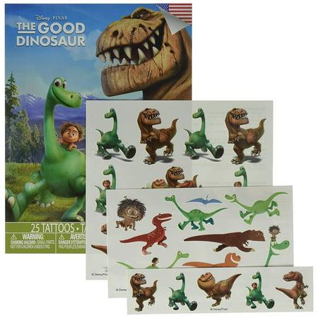 The Good Dinosaur 25 Temporary Tattoes Set - Dino Tattoo