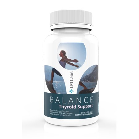 LFI Balance Thyroid Supplement - Complete Natural Hypothyroidism Complex With Iodine to Improve Energy & Help Lose Weight; Increase Concentration, Boost Metabolism & Reduce Brain