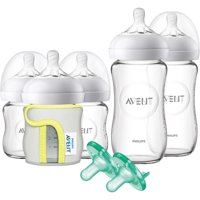 Philips Avent Natural Glass Bottle Baby Gift Set, SCD201/01