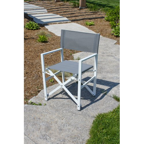 Wrought Studio Pinkham Folding Director Chair with Cushion