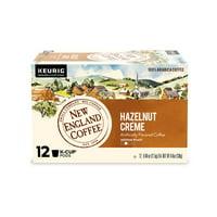 New England Coffee Hazelnut Creme Coffee K-cup Pods, 12 Count