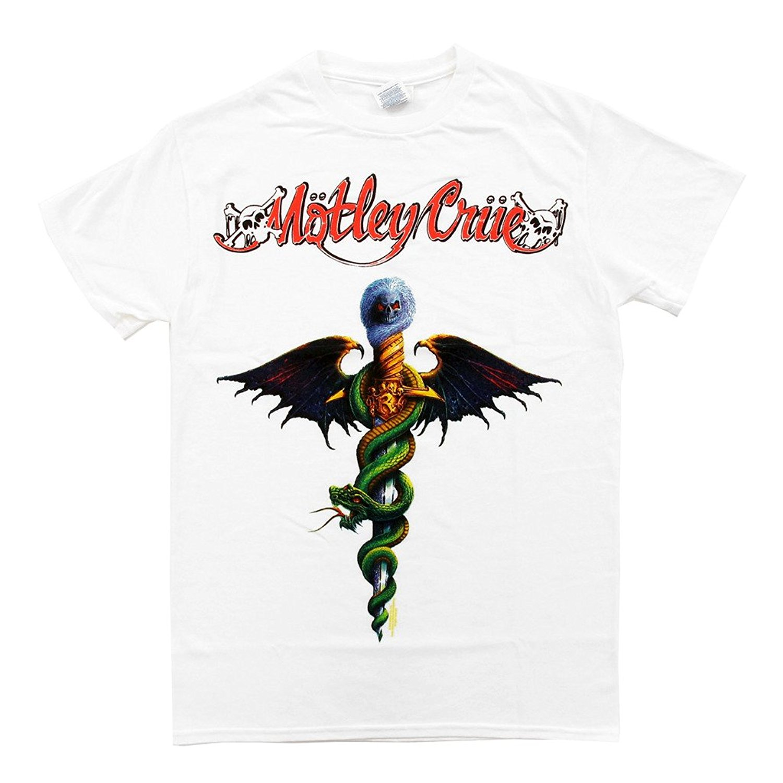 Wayne's World Motley Crue Band Logo Adult White T-Shirt