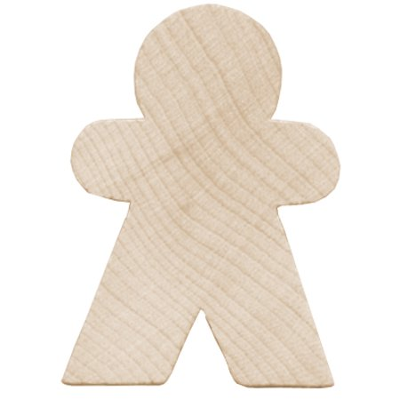 LAR10231 LARA S WOOD PKG GINGERBREAD MAN 1 75 4PC