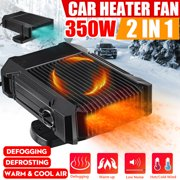 300W 12V Mini Heater Fan for Car Portable Auto Demister Defroster Heating Cooling Electric Travel Defroster Demister Portable Car Heater, Auto Electronic Heater Fan Fast Heating Defrost