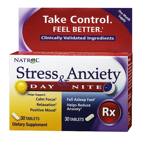 Natrol Stress & Anxiety Tablets, 60 Ct