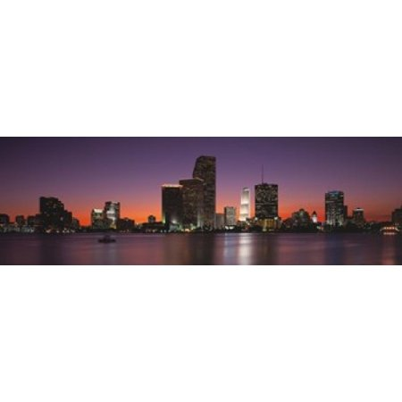 Evening Biscayne Bay Miami FL Poster -