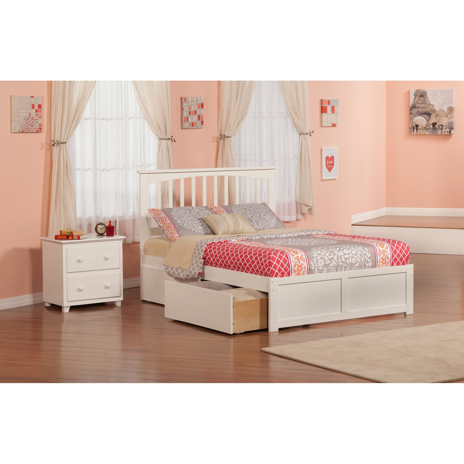 Atlantic Furniture Mission Bedroom Set   Walmart.com