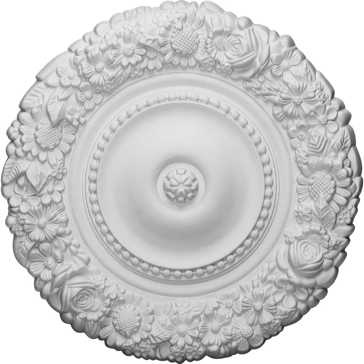 "21""OD x 2""P Marseille Ceiling Medallion (Fits Canopies up to 7 3/8"")"