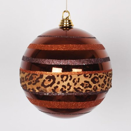 Coffee Christmas Tree Ornaments.Diva Safari Cheetah Print Stripes Copper And Coffee