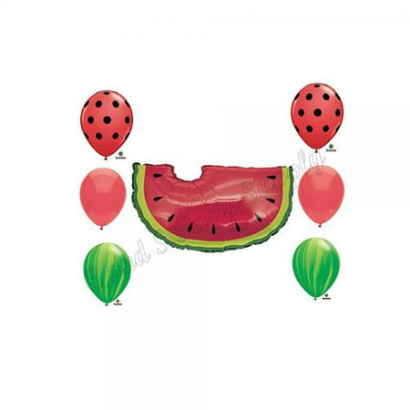 WATERMELON PICNIC Birthday Balloons Decoration Supplies Party Cookout
