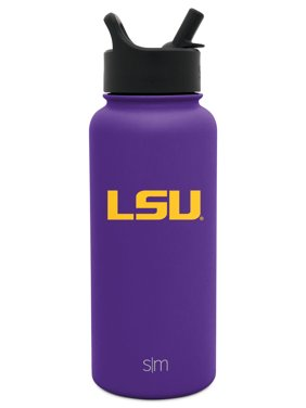 Simple Modern LSU Tigers 32oz Summit Water Bottle with Straw Lid - Mens Womens Gift University NCAA College Vacuum Insulated Stainless Steel Travel Flask