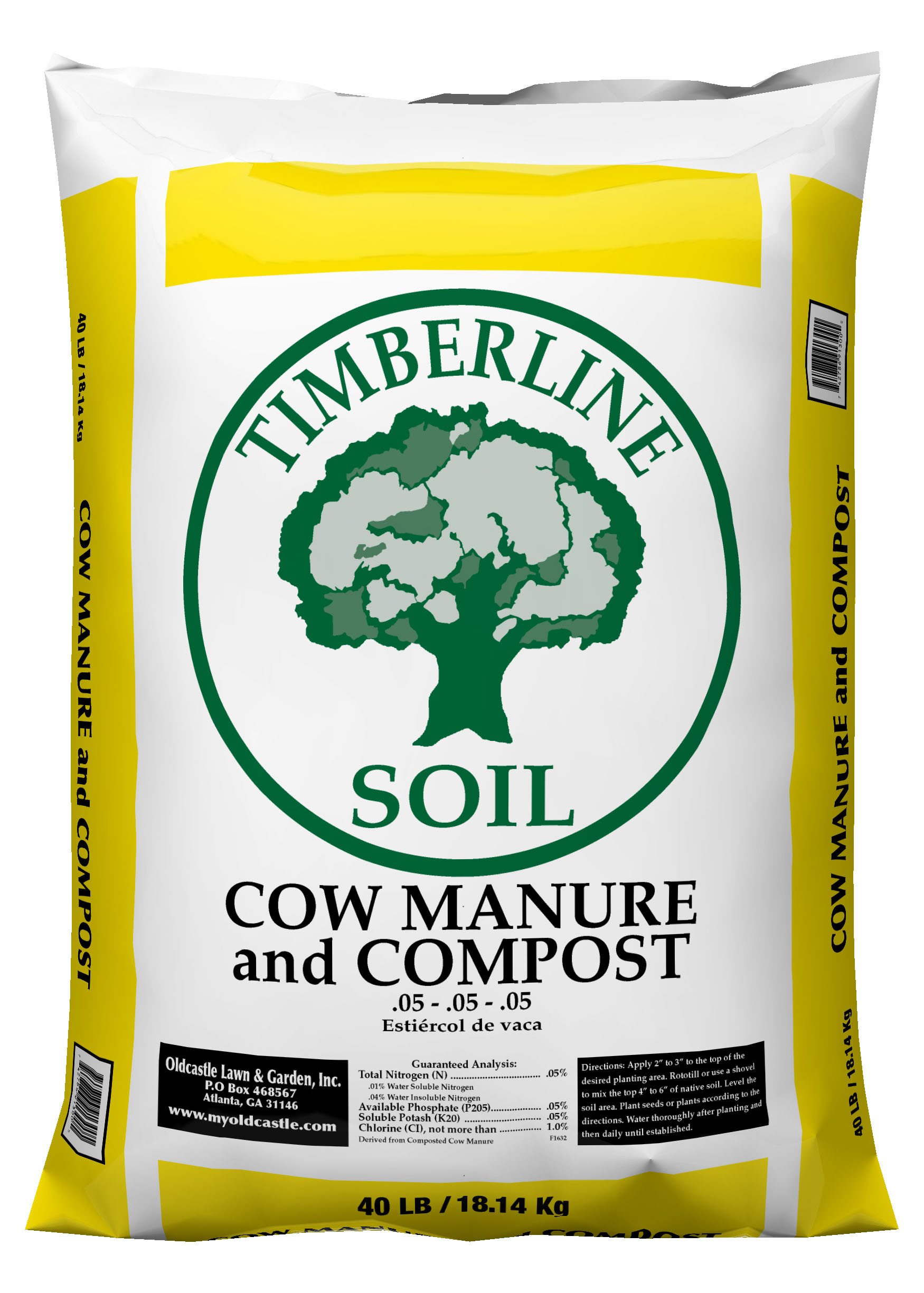 Timberline Cow Compost, 40lb by Oldcastle Lawn and Garden