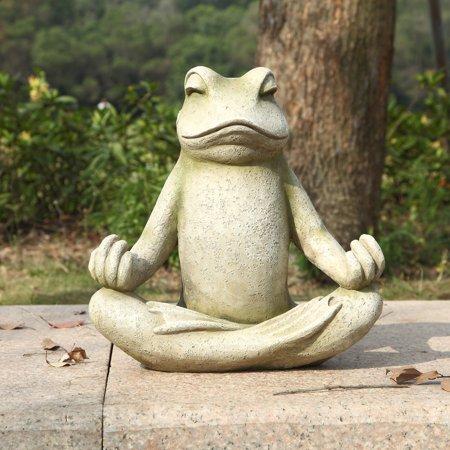 HI-LINE GIFT LTD. FROG SITTING IN LOTUS POSITION (Hohong Ltd)