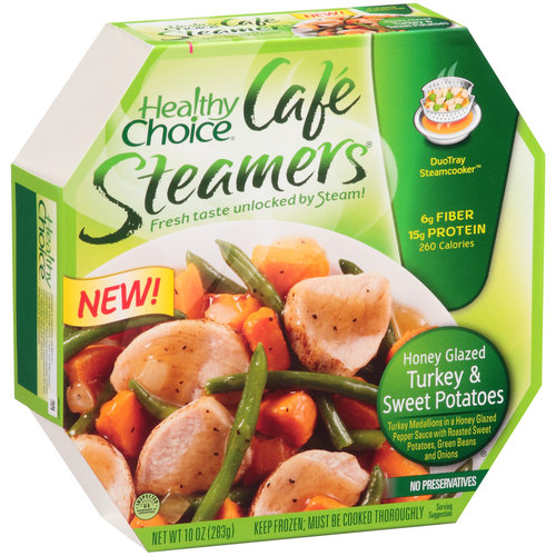 Healthy Choice Cafe Steamers Honey Glazed Turkey and Sweet Potatoes Frozen Entree, 10 oz
