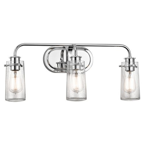 "Bathroom Light Fixtures At Walmart kichler 45459 braelyn 3 light 24"" wide bathroom vanity light with"