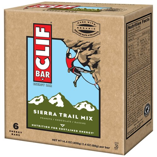 CLIF Sierra Trail Mix Energy Bars, 2.4 oz, 6 count
