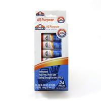 Elmer's All-Purpose Permanent Glue Stick, White Application, .21 oz, 24/Pack