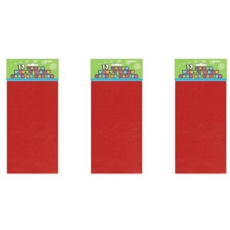 Luminaria Bags ((4 Pack) Paper Luminary & Party Bags, 10 x 5 in, Red,)