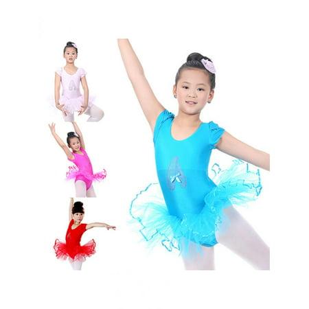 d5ec82d59b67 Girl12Queen - Cute Toddler Baby Girls Short Sleeve Ballet Tutu Dress ...