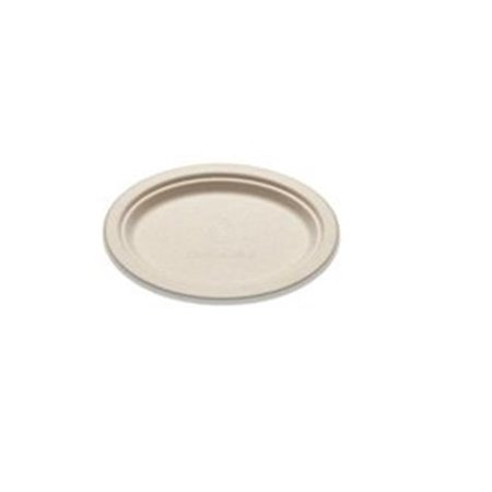 - Bridge-Gate WHBRG-710 7 x 10 in. Bagass Oval Platter, Natural - Case of 500