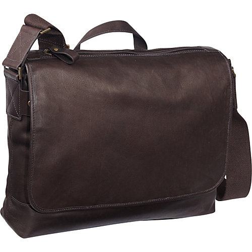 eBags Laptop Collection Tribeca Colombian Leather Vintage Laptop Messenger