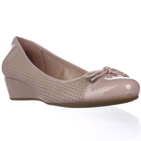 38bd274e11b Easy Spirit - Womens Easy Spirit Dawnette Perforated Wedge Ballet Pumps -  Light Pink - Walmart.com