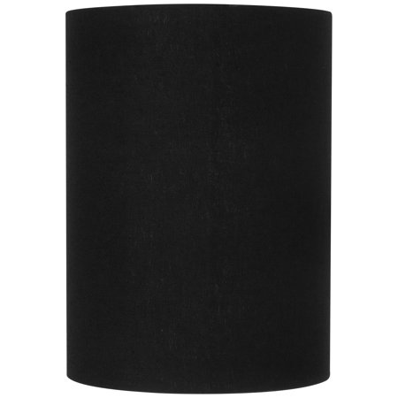 Brentwood Black Linen Small Cylinder Lamp Shade 8x8x11 (Spider) - Small Black Spider